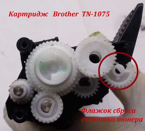 Сброс счетчика тонера Brother TN 1075
